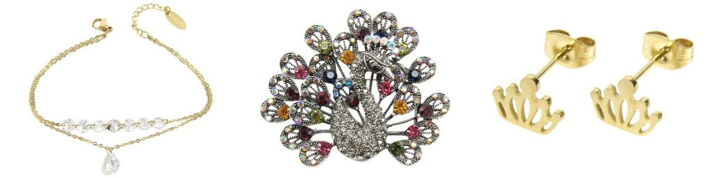 biżuteria, biżuteria ze stali chirurgicznej, naszyjnik, broszka, bransoletka,