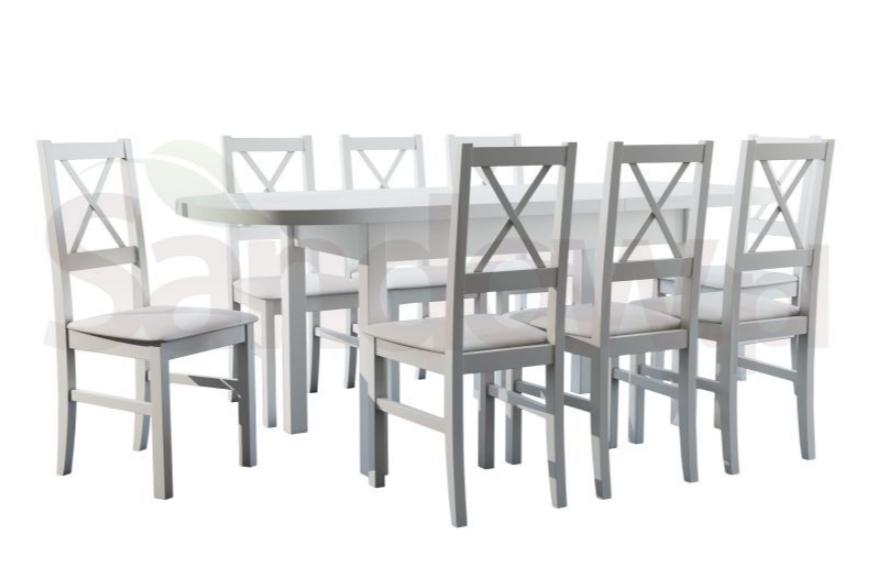 biały stół i krzesła sandow